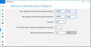 Minimum Deceleration Distance