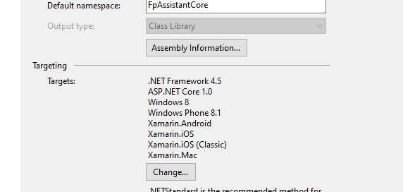 Settings for PCL version of FPAssistant SDK
